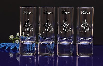 Personalised Engraved Shot Glass Idea Stag Hen Night Party Birthday Gift 15-1