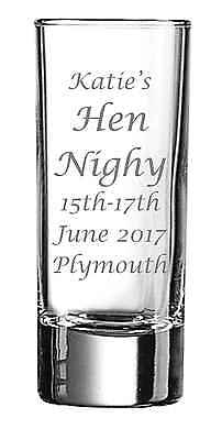 Personalised Engraved Shot Glass Idea Stag Hen Night Party Birthday Gift by jevg