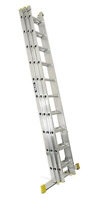 Lyte Trade Aluminium Extension Ladder - Triple Section  3.42m - 8.45m | ELT335