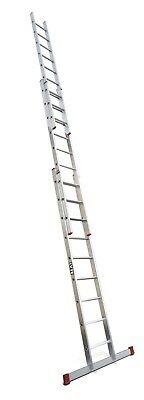 Lyte DIY Aluminium Extension Ladder - 3 Section|3x11 Rung|Max 8.5m Height|BD335