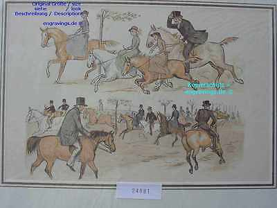 24881-Pferde-Pferd-Horses-Reiten-Lithographie-Lithography-1885