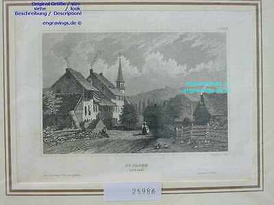 25986-Schweiz-Swiss-Switzerland-ST.JACOB-Basel-Stahlstich-Steel engraving-1860