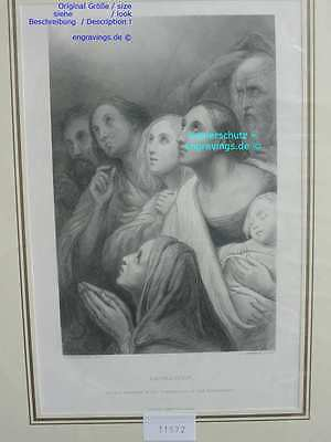31527-Bibel-Bible-ADORATION-Scheffer-Stahlstich-Steel engraving-1879