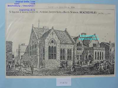 31630-Architektur-Architecture-ROCHDALE-School-Lithographie-Lithography-1874