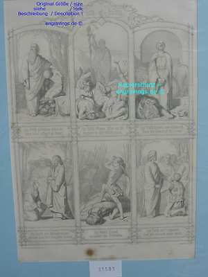 31583-Bibel-Bible-Jesus-Christ-Abraham-David-Goliath-Stahlstich-Steel engraving