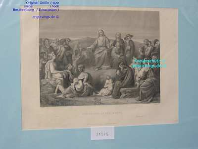 31575-Bibel-Bible-JESUS-CHRIST-Christi-SERMON-Stahlstich-Steel engraving-1860