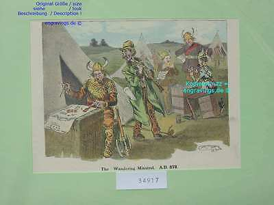 34917-Norwegen-Norway-Norge-Wikinger-Viking-T Lithographie-Lithography-1895