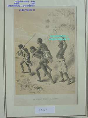 37448-Afrika-Africa-AFRICAN KING-Livingstone-Lithographie-Lithography-1885