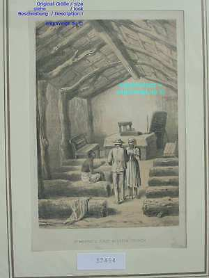 37454-Afrika-Africa-MISSION CHURCH-Livingstone-Lithographie-Lithography-1885