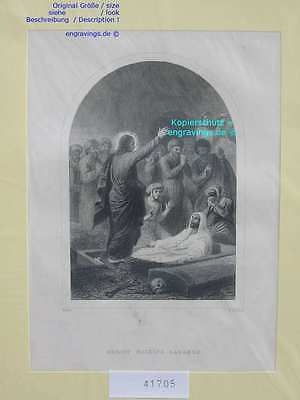 41705-Bibel-Bible-JESUS-CHRIST-Lazarus-Stahlstich-Steel engraving-1860
