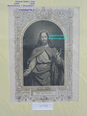 41702-Bibel-Bible-JESUS-CHRIST-Saviour-Stahlstich-Steel engraving-1860