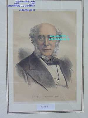 42108-Afrika-Africa-Portrait-SIR FERGUSON-Lithographie-Lithography-1880