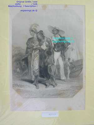 42117-Afrika-Africa-TRIBE OF SHOVAA-Sklaven-Slave-Stahlstich-Steel engraving