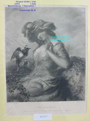 42270-Sinti-Roma-Gypsy-Gypsies-Gipsy Queen-Stahlstich-Steel engraving-1860
