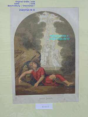 42442-Engel-Angel-JACOB'S LADDER-Lithographie-Lithography-1880