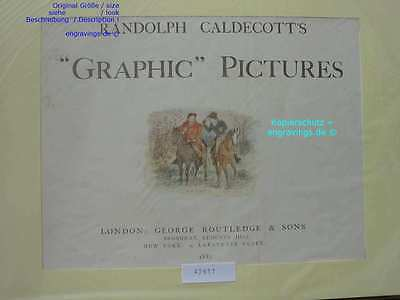 42611-CALDECOTT-Pferde-Horses-Reiten-Lithographie-Lithography-1883