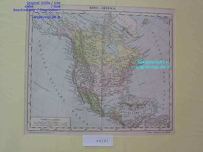 44241-Nord-Amerika-North-America-LANDKARTE-MAP-H-1885