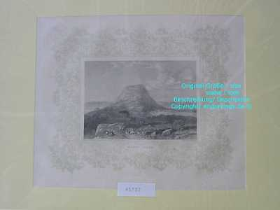 45732-Asien-Asia-Israel-Palestine-MOUNT TABOR-Stahlstich-Steel engraving-1870