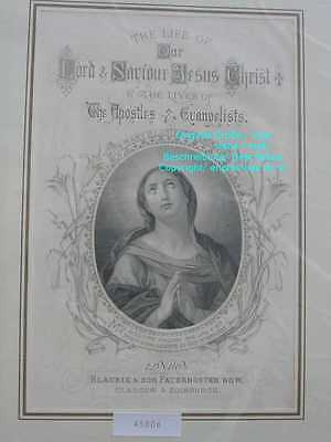 45806-Bibel-Bible-Biblisches-MADONNA-Virgin-Stahlstich-Steel engraving-1865