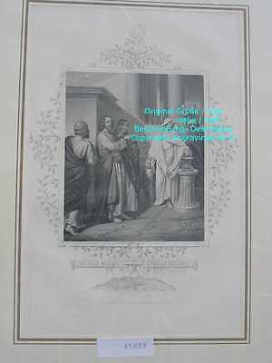 45809-Bibel-Bible-Jesus-CHRIST-POOR WIDOW-Stahlstich-Steel engraving-1865
