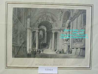 50904-Italien-Italia-Italy-Rom-Roma-Rome-Vatican-Stahlstich-Steel engraving-1850