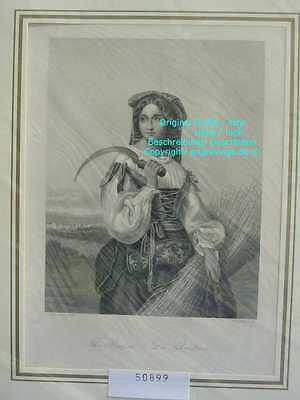 50899-Italien-Italia-Italy-Schnitterin-Reaper-Woman-Stahlstich-Steel engraving