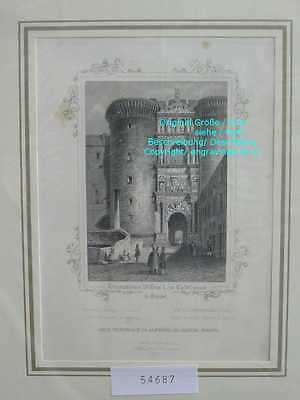 54687-Italien-Italy-Italia-NAPOLI-NEAPEL-NAPLES-Stahlstich-Steel engraving-1850