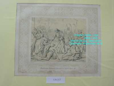 59037-Bibel-Bible-Jesus-Christ-die Heilung-Ornament-Stahlstich-Steel engraving