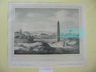 59123-Ägypten-Egypt-Heliopolis-Lithographie-Lithography-1839