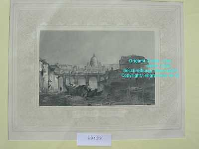 59129-Italien-Italy-Italia-ROM-ROME-ROMA-the Tiber-Stahlstich-Steel engraving