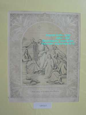 59041-Bibel-Bible-Jesus & the Doctors-mit Ornament-Stahlstich-Steel engraving
