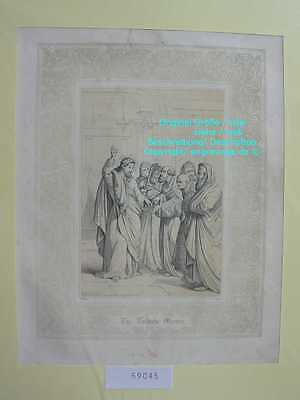 59045-Bibel-Bible-Jesus-Christ-Tribute Money-Ornament-Stahlstich-Steel engraving