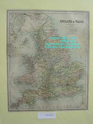 60348-GB-England-Wales-Great Britain-Karte-Map-1870-Stahlstich-Steel engraving