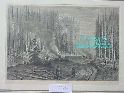 70232-Russland-Russia-Holzfäller im Walde-H-1880