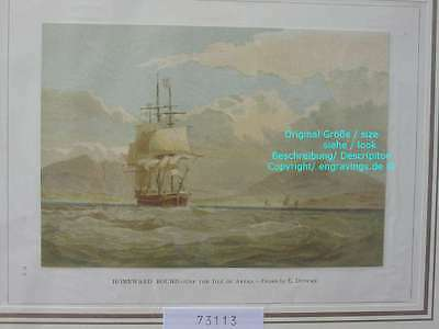 73113-Seefahrt-Schiffe-Ship-Marine-Isle of Arran-Lithographie-Lithography