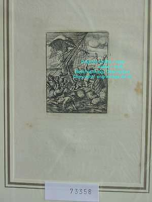 73358-Holbein-Dance of Death-Totentanz-Tod-Shipwreck-Kupferstich-copperengraving