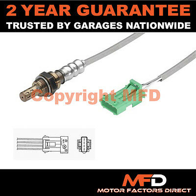 Peugeot 207 1.4 8V (2006-) 4 Wire Front Lambda Oxygen Sensor Direct Fit Exhaust