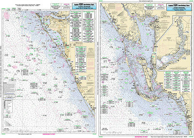 Fishing Map Estero to Lemon Bay, FL CHA39-BC Gulf of Mexico