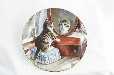 """1992 Bradex Victorian Cat Capers Cat Collector Plate """"Who's The Fairest""""  8"""""""