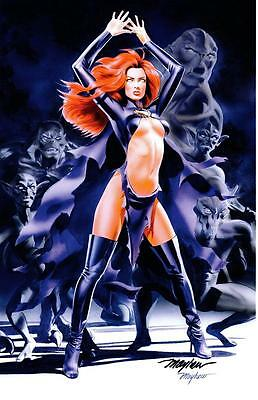 MADELYNE PRYOR GOBLIN QUEEN ART PRINT Signed By MIKE MAYHEW / X-MEN