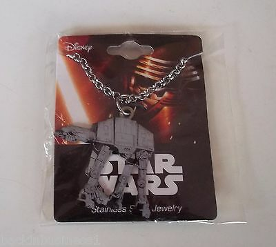 Star Wars-The Force Awakens- Stainless Steel- At-At Necklace, Slide - Bnip!