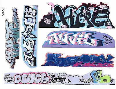 G Scale Graffiti Decals G20 From Real Graffiti Photos