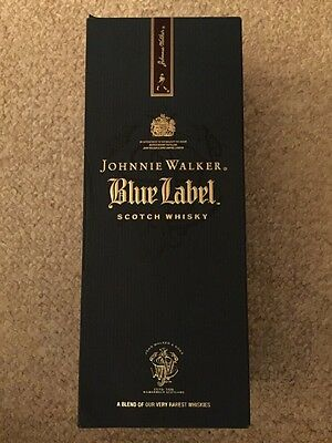 Johnny Walker Blue Label Scotch Whisky...collectors Box And Bottle