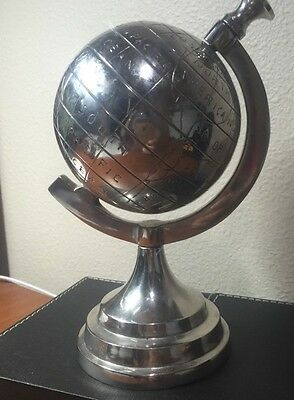 Steel Globe 8in Tall