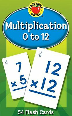 Childrens Flash Cards Multiplication 0 to 12 Learning by Brighter Child