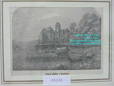 65295-Schweiz-Swiss-Switzerland-Schloss Chillon-TH-1866