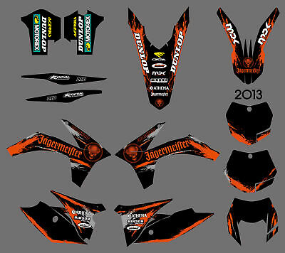 Graphics Backgrounds For Ktm 125/200/250/300/350/450/500 Exc 2012 13 Xc 2011 F