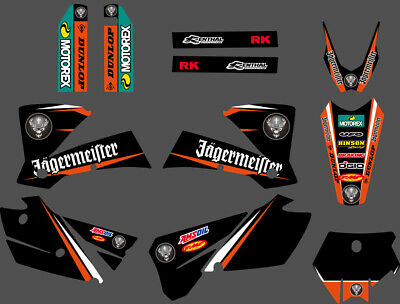 Team Graphics Backgrounds Decals For Ktm Sx 250/380 /400/520 2003 2004 B