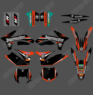 Team Graphics & Backgrounds Decals For Ktm Sx Sxf 125/250/380 /400/520 2011 12 R