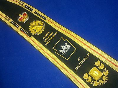 Pipe / Drum Major, Marching Band | Sash Baldric | Hand Embroidered by Geoffrey